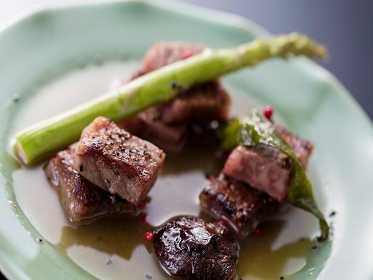 【当館一番人気】黒毛和牛ステーキと旬の懐石料理【朝夕お部屋食】