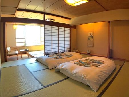【禁煙】和室12.5畳+4.5畳 バス・トイレ付 瑞雲館