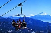 清里のスキー場 サンメドウズより富士を望む
