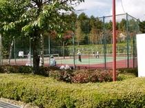 清里の森のテニスコート 秋10.15