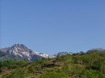 美しの森展望台と赤岳1