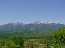 春本番、平沢峠の八ヶ岳