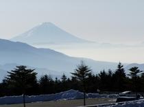 清里スキー場サンメドウズからの富士