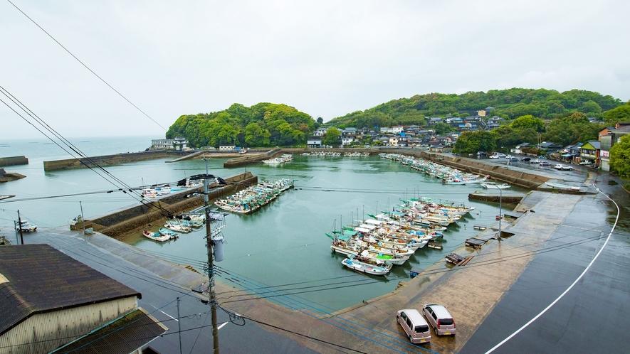 *【お部屋からの眺め一例】竹崎港が一望できます♪