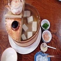 湯豆腐 『桶』も手作り