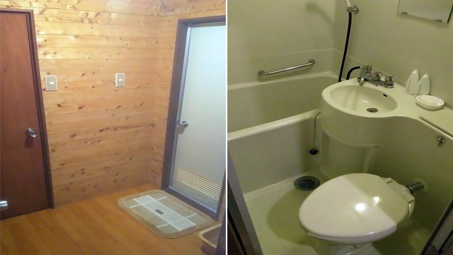 バストイレ付(兼連結)スペース & ユニットバス室内
