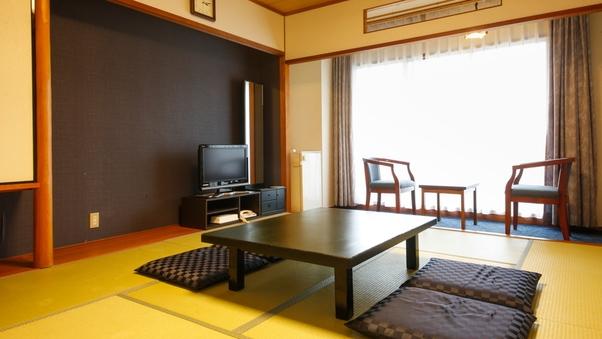 ◆禁煙指定◆畳・布団の純和風客室・山側眺望◆和室10畳