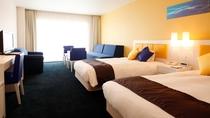 ★地中海風リゾートをコンセプトに、エーゲ海の町並みをイメージしたお部屋(地中海ツインルーム 一例)