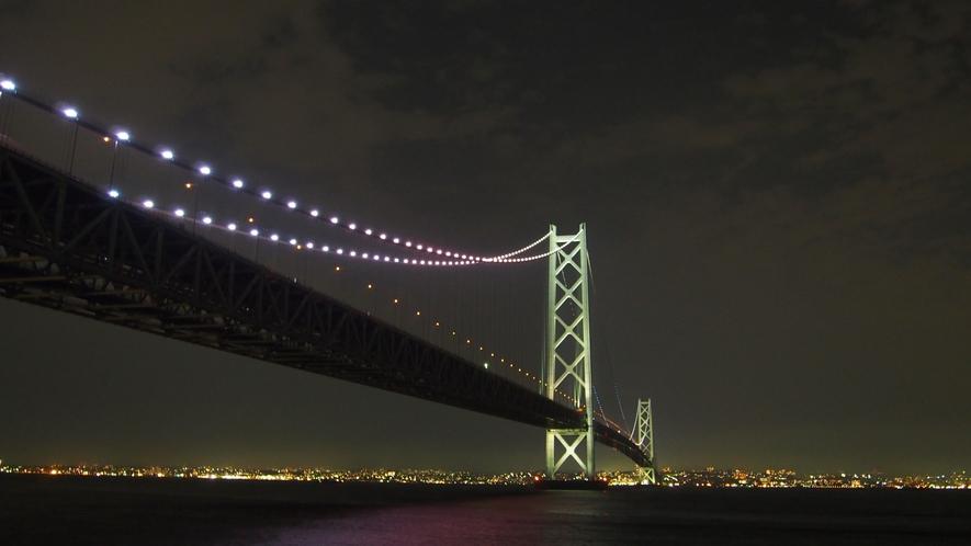 ★【明石海峡大橋】淡路島から夜景を一望!ロマンチックなひととき。・:*:・゚☆(道の駅あわじより)