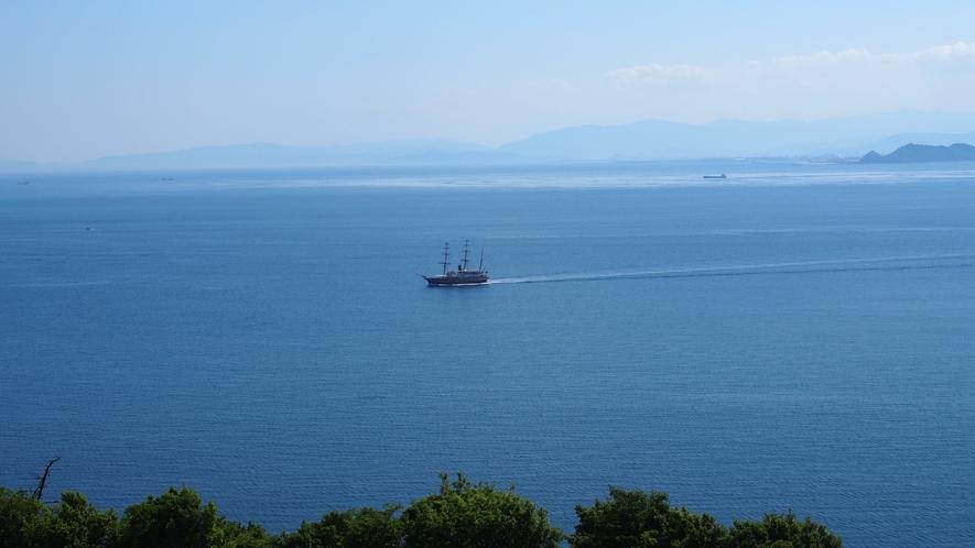 ★【海側客室眺望 一例】うずしおクルーズの船が往来することも♪