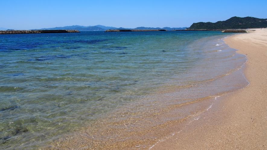 ★【阿万海水浴場】水質AA!南国ムードが楽しめる美しい海水浴場♪(ホテルからお車で約25分
