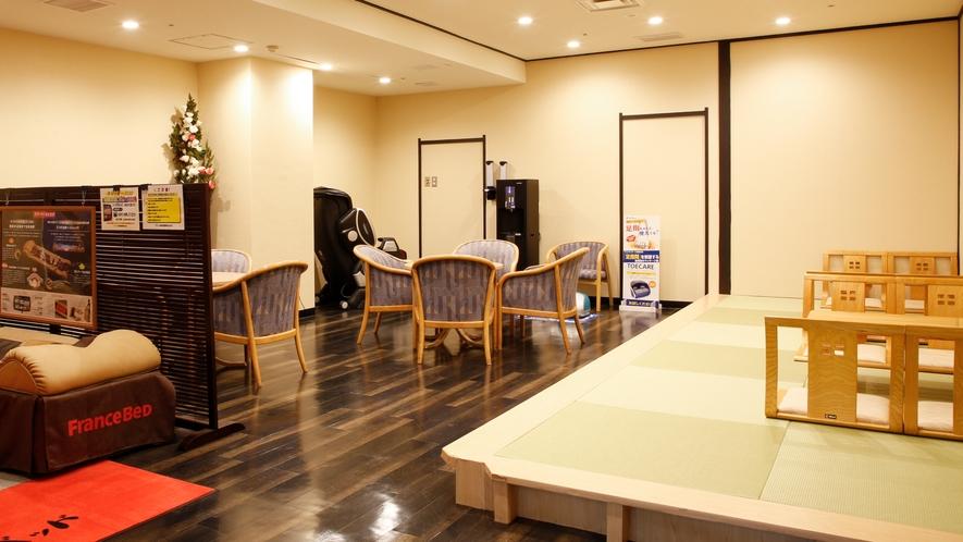 ★地下1階大浴場そば 湯上がり処休憩所※食事・喫煙はご遠慮ください。飲みものはご利用いただけます。