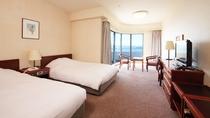 ★【コーナーツインルーム】(23平米)角部屋のお部屋で、眺望、喫煙・禁煙はホテルお任せとなります。