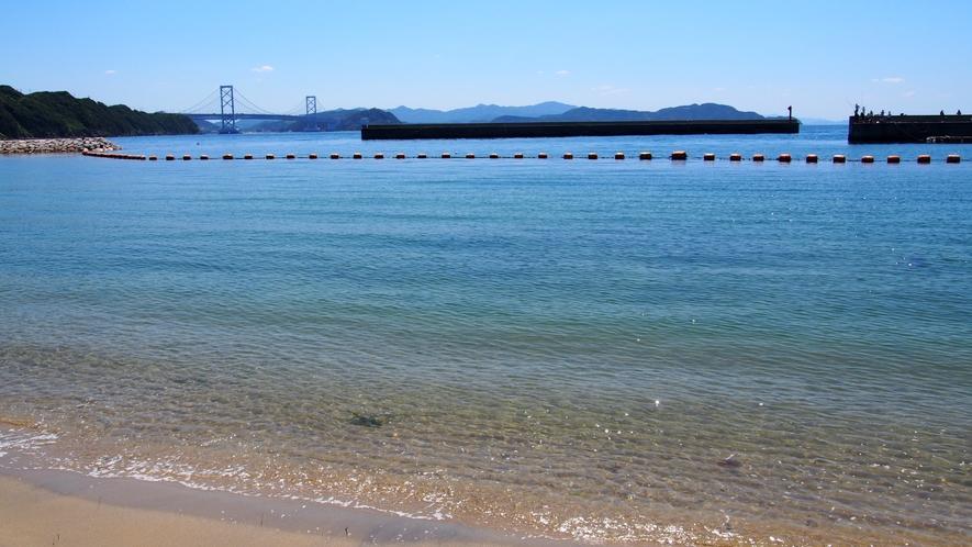 ★【伊毘うずしお村海水浴場】鳴門海峡が目前という景観!(ホテルよりお車で約15分)