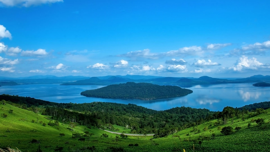 **屈斜路湖/美幌峠展望台からの絶景