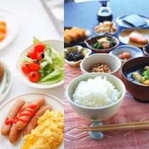 【朝食イメージ】和食派も洋食派も、たくさん派もちょっと派も、皆様に合わせたご朝食をご提供いたします!