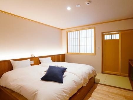 【源泉かけ流し檜風呂付】32平米の和洋室