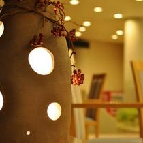 縄文式土器のやわらかな灯り