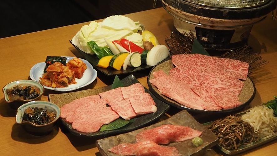 奈良県産黒毛和牛の焼肉コース(イメージ)