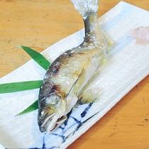 *【夕食一例】あゆの塩焼き