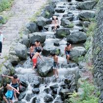 【鳥羽川河川公園】矢納フィッシングパークの近くにあります。澄んだきれいな水で安心して川遊び楽しめます
