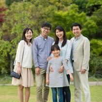 【3世代応援】じ~じ・ば~ばと一緒に家族旅行♪1部屋3名様以上がとってもお得です!