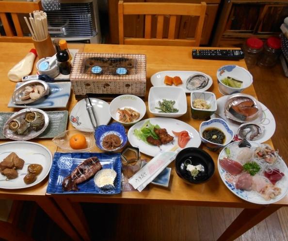 海の幸メインのご夕食(一例)