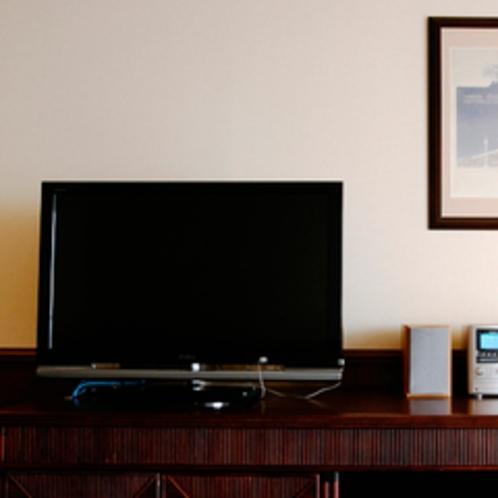 客室TV リビングルームとベットルームに各1台