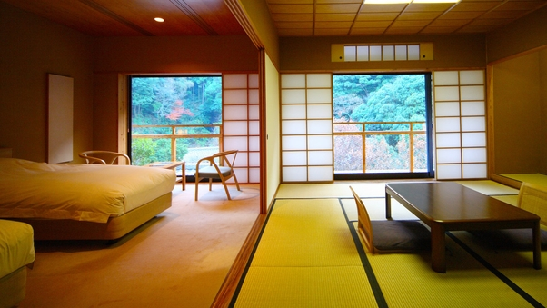 2階和洋室 ◆山の静寂に包まれる◆ ‐檜温泉内風呂付‐