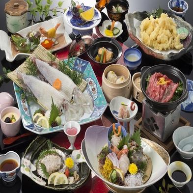 活きイカ・魚介類を堪能(潮騒)【個室orお部屋でのご夕食】