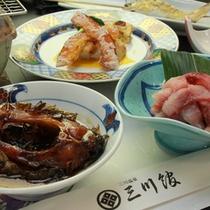 ◇鯉料理プランの夕食一例