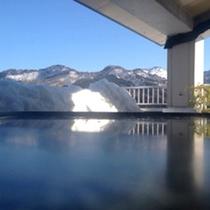 澄んだ景色彡露天と山