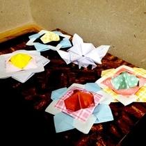 お客様による 折り紙