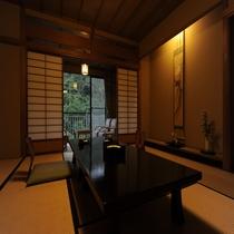【和室10畳】夕暮れ時のお部屋