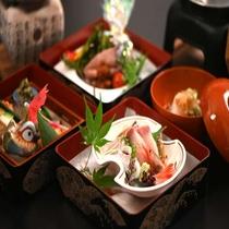 【夕食】会席三段重『箱入り娘』のお料理