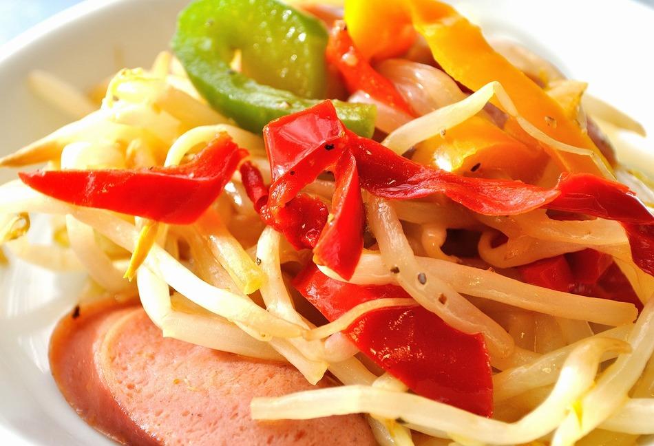 新鮮野菜の野菜炒め