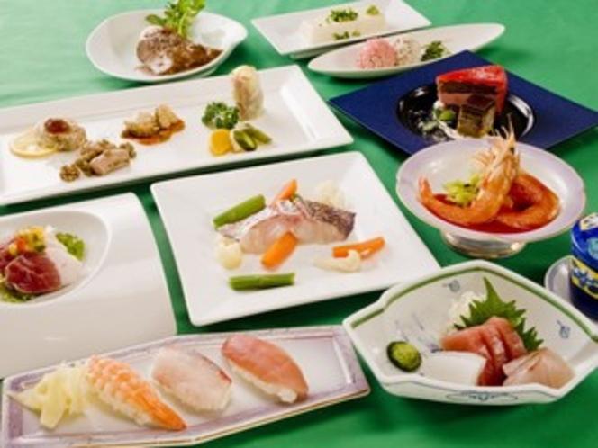 創作和洋料理(お寿司つき)の例