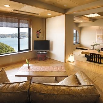 飛島館 スイートルーム 専用露天風呂付和洋室