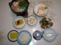 夕食の一例