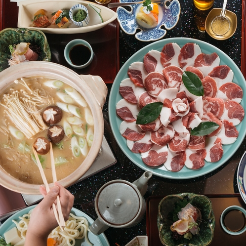 京都の冬の旬 牡丹鍋