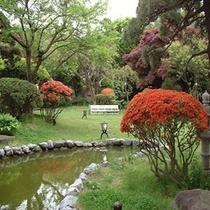 自慢の歴史ある庭園【5月ツツジ】