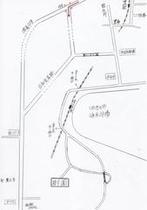 樹園までの地図