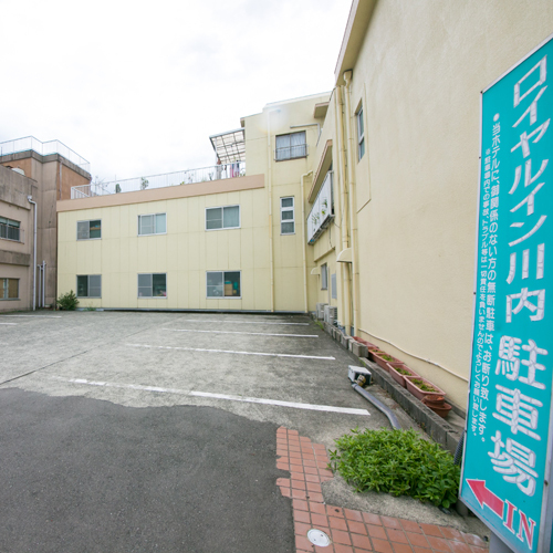 【ロイヤルイン川内】70台収容可能!無料駐車場