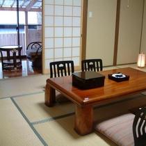 【離れ】和室(10畳+3畳) 露天風呂付き(一例)