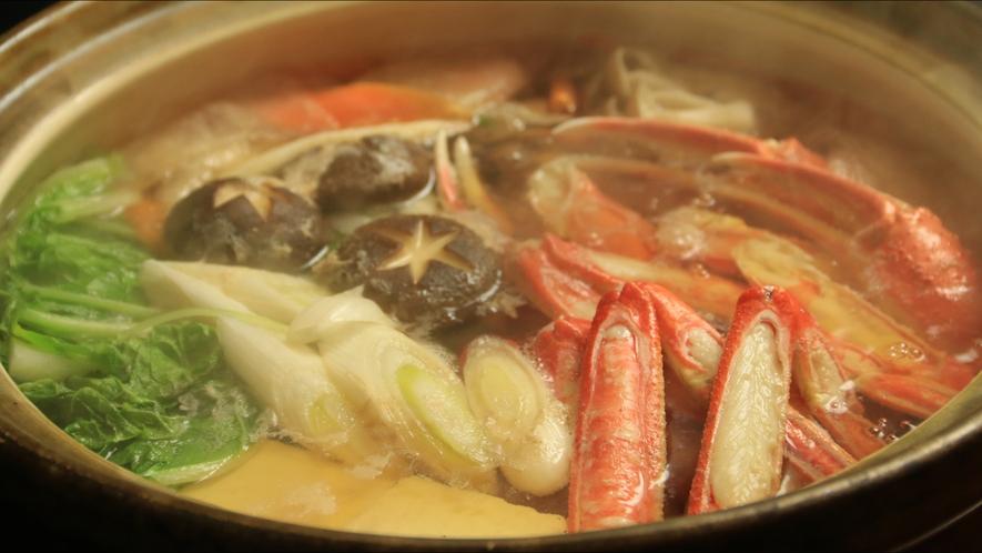 身体の芯から温まる蟹鍋は〆まで美味しい