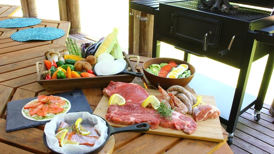 日本のバーベキューとは違い、アメリカBBQ,では肉を塊のままで焼き、ジューシーに仕上げます