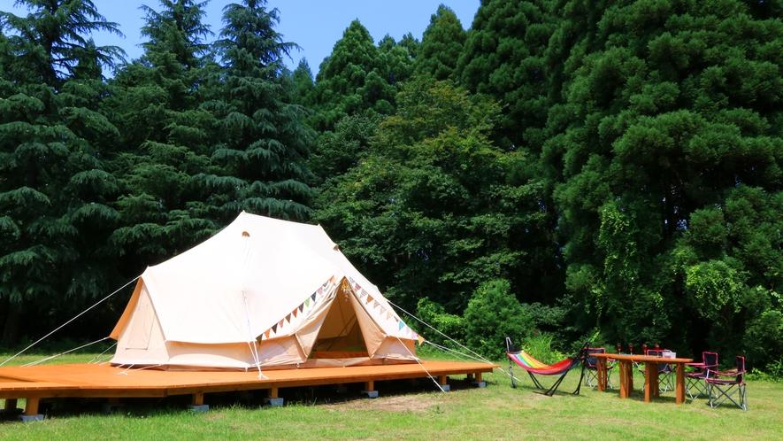 テント&和室のセット部屋♪テントで寝にくいお子様や雨天時など、お好みでどうぞ