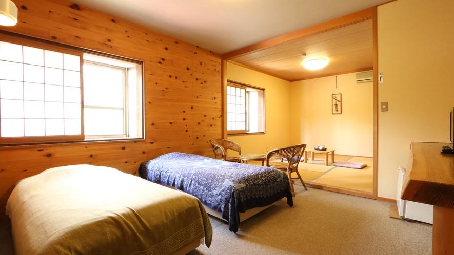和洋室のお部屋。広々とお過ごしいただけます