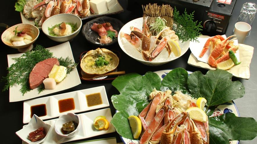 厳選した蟹のカニフルコース♪様々な調理法で異なる蟹の旨みを是非・・・♪