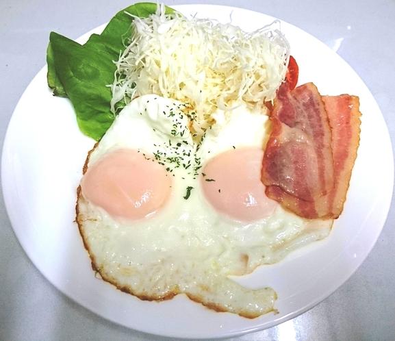 洋定食:目玉焼きダブル
